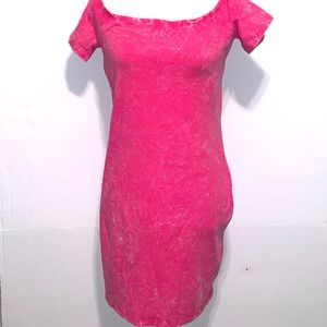 Bongo pink tie-dye fitted dress size extra large